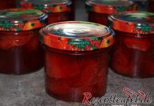 Erdbeerkonfitüre mit Vanille und ganzen Erdbeeren