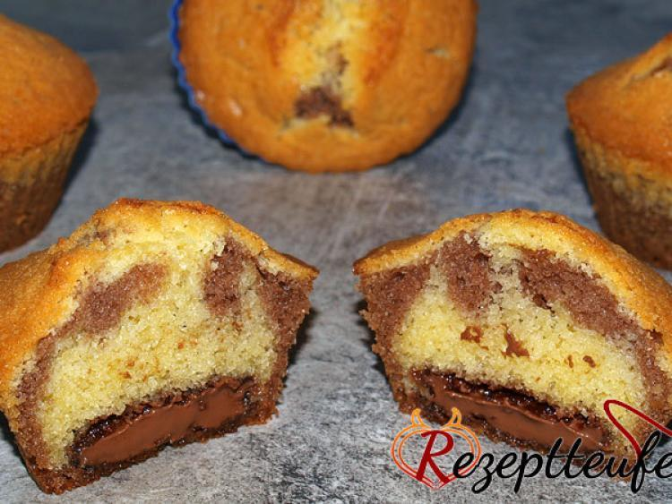 3 farben muffins mit nougatkern rezept f r 12 muffins. Black Bedroom Furniture Sets. Home Design Ideas