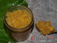 Karamellisiertes Apfel-Rhabarber-Kompott