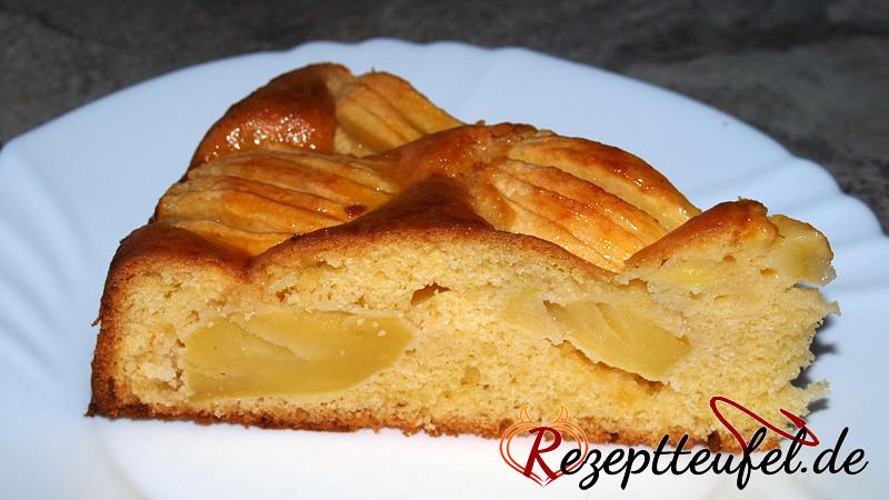 Versunkener Apfelkuchen (Schwäbischer Apfelkuchen)
