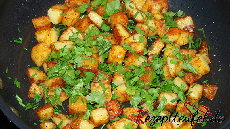 Bratkartoffeln Aus Kartoffelwürfel Rezept Für Bratkartoffeln
