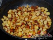 Die gewürfelten Bratkartoffeln sind fertig