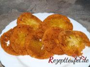 Brotchips vom Brötchen mit Curry