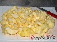 Die vorbereiteten Äpfel