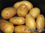 Die gekochten Kartoffeln