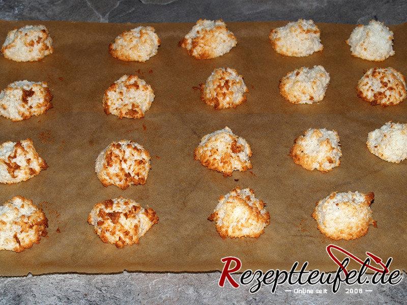 Die gebackenen Kokosmakronen