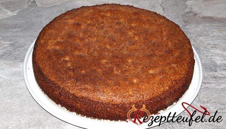 Gebackener Kuchen ohne Guss