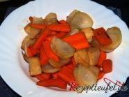 Das angeröstete Gemüse