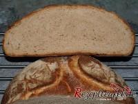 Gebackenes Brot im Anschnitt